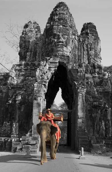 elephant at the bayon gate