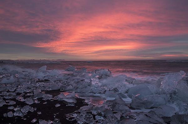 dawn jokulsarla beach