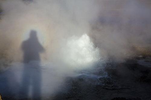 el tatio geyser with my broken spectre
