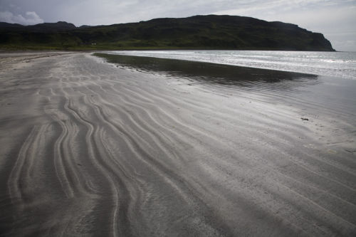 laig beach sand patterns eigg
