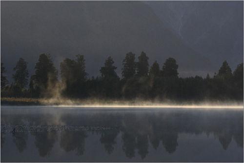 misty morning lake matheson