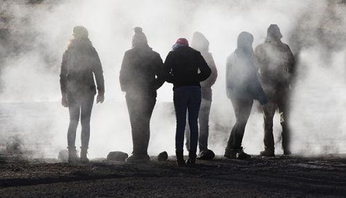 morning at el tatio geysers