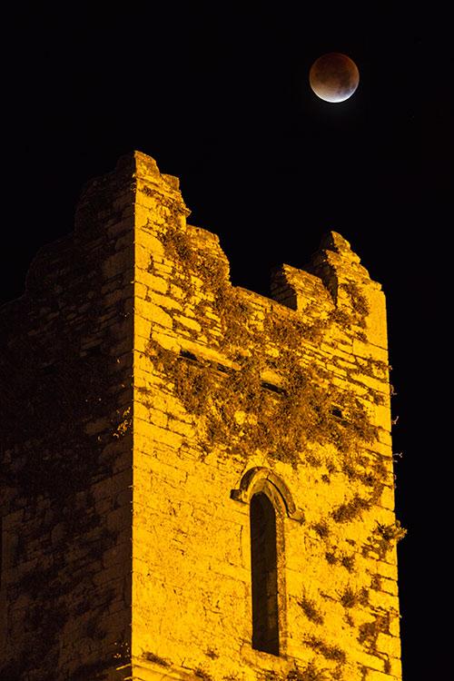 Blood moon over Timoleague Abbey
