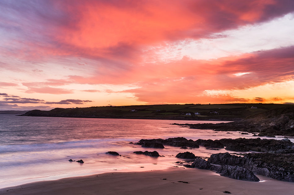 Red sunset, Dunworley, West Cork