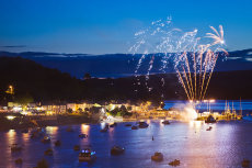 Fireworks at Courtmacsherry, West Cork