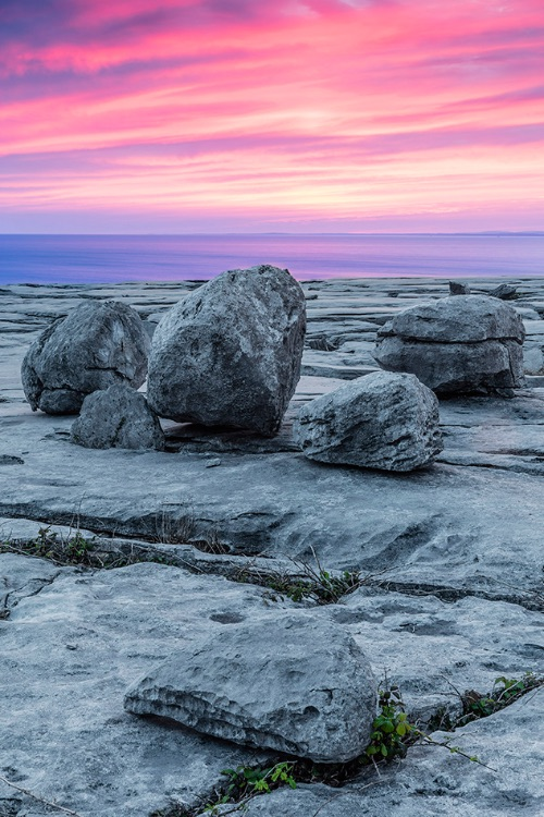 Sunset on the Burren coast, Co Clare