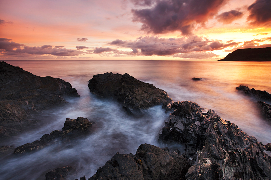 Sunrise at Culdaff beach, Inishowen, County Donegal