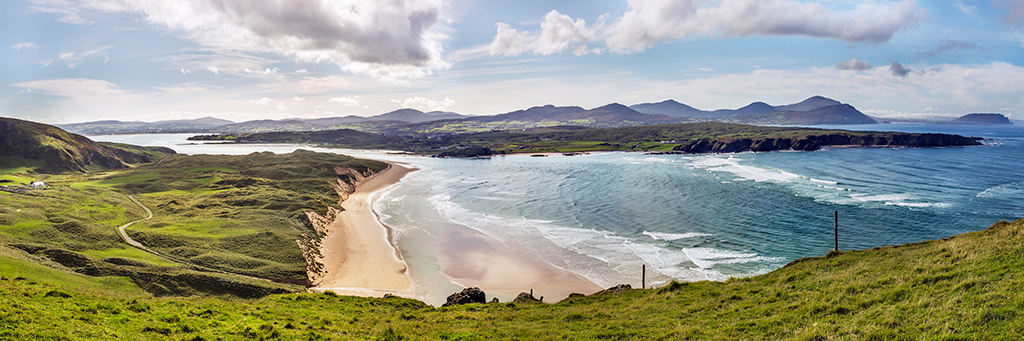 Above Five Fingers strand, Inishowen, Donegal