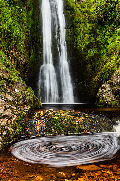 Glenevin waterfall, County Donegal