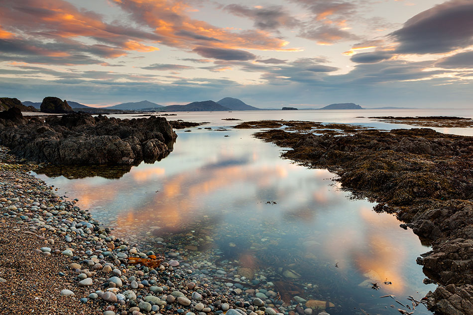 Reflections over Lough Swilly, Inishowen, County Donegal