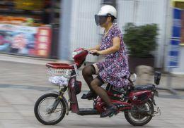 Chinese Moped Rider