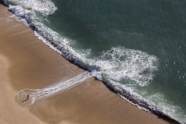 On the beach, Nazare, Portugal