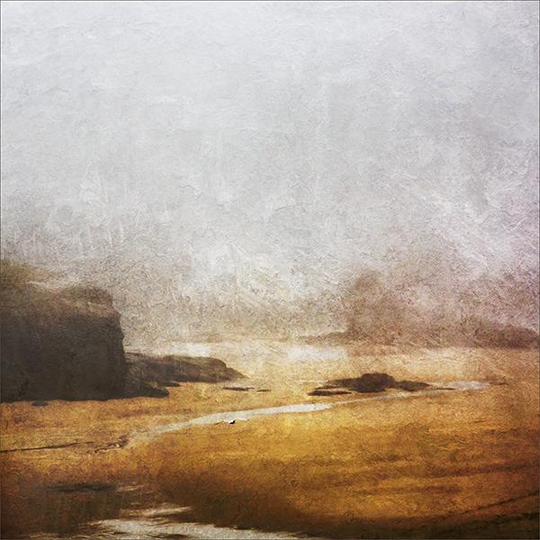 Porthcothan Beach in the mist, North Cornwall 2