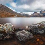 Dove Lake and rocks. Tasmania.