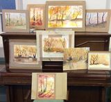Nov 2016 workshop A sellection of paintings by members attending the  run by Ruth Clayton