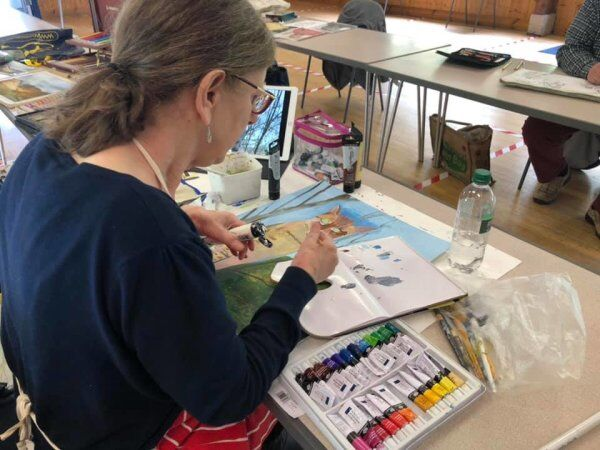 Aug 2020 Angela working on her cat