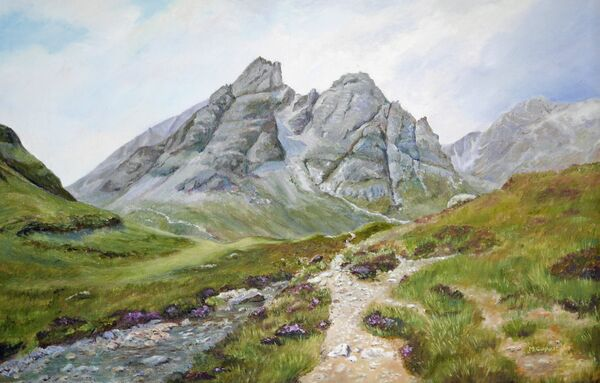 Blaven Isle of Skye by M.Copestake (Oil)