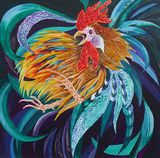 Cockerel by Ruth Gamsby – Mix Media