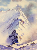 Dec 2015 Jane Ward's final painting re Mt & Lakes in Winter Workshop