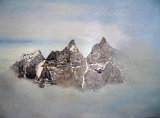 Dent du Midi by Cherie Chapman - Watercolour & Pastel