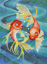 Gold Fish by Ruth Gamsby – Multi Media