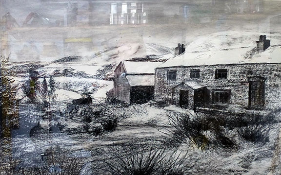 Howgill Farmstead by mike Morrison - Charcoal