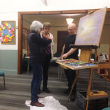 Mar 2016 Greg Howard with Helen and Jenifer @ Pastel Demo