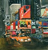 New York Taxis by Anne Mackinnon- WC