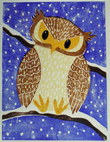 Owl by Esther Murry -Lino Cut