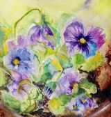 Patio Pansies by Jenifer Alison - WC