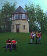 Pepperpot with Tourist By John Conway & SAS Wed Group - Acrylic - 610 x 725
