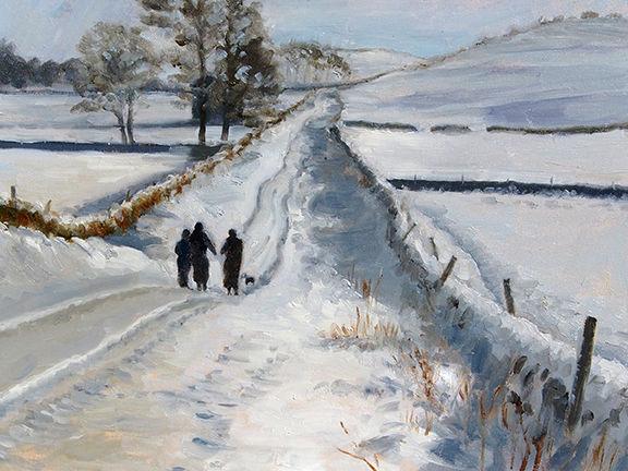Road to Semerwater by Brian Alderman - Oil