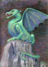 Slovenian Dragon by Liz Clark - Pastel