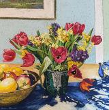 Spring Flowers by Helen Shields - Pastel