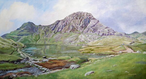 Stickle Tarn Langdale by M.Copestake (Oil)