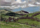 The Howgills from Cautley by Liz Clarke - Pastel