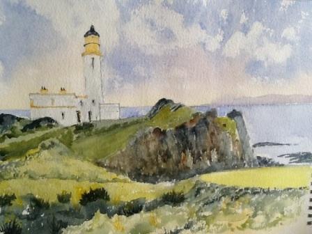 "Ron Gerrard - ""The Lighthouse"" - Watercolour"