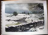 Winter Landscape around Raber Top Ingleton