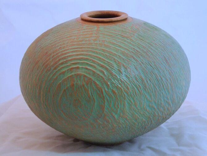 #289 Cedar with verdigris wax