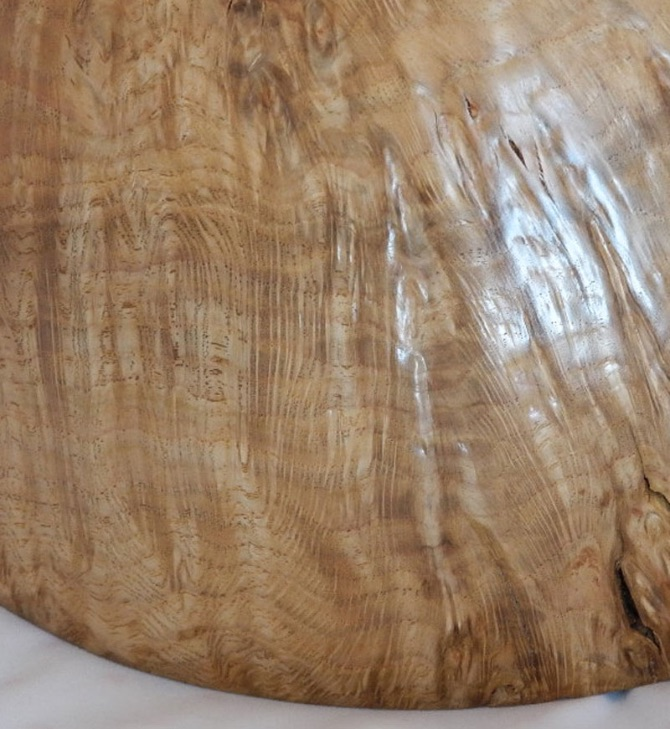Oak burr drying detail