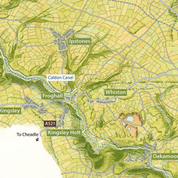 Churnet Valley Map: detail