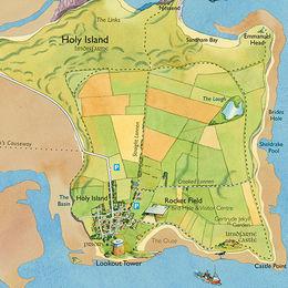 Lindisfarne Island Northumberland
