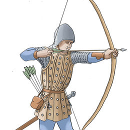 Longbow archer at the Battle of Tewkesbury