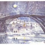 Ironbridge-cast in moonlight