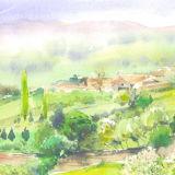 Spring countryside Belves, France