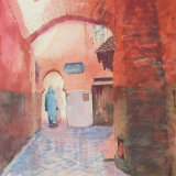 Tiled courtyard Marrakesh
