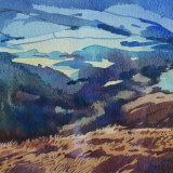Hills at dusk: mid-Wales