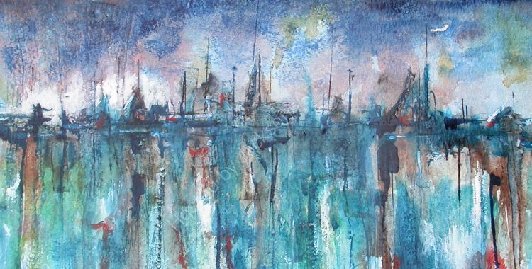 Approaching  the  Harbour  SOLD