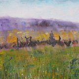 Early Morning Fields in Montreuil Bellay SOLD  Print Available only