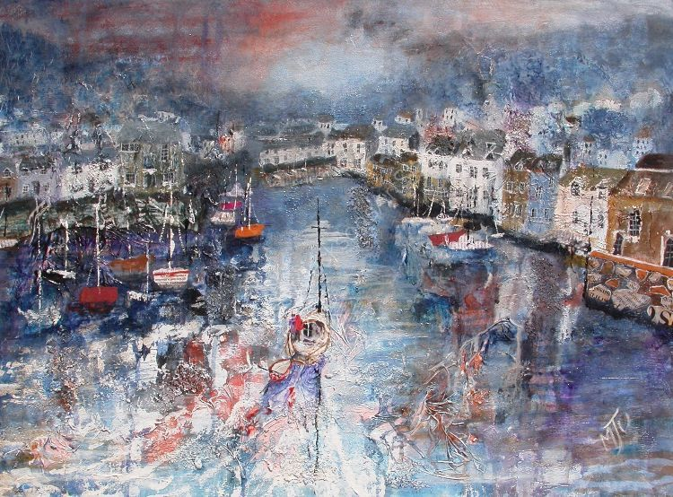 Harbour  at  Polperro  SOLD